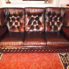 High Back Chesterfield Sofa Chenille Corner Bed Vintage In Cheadle Staffordshire