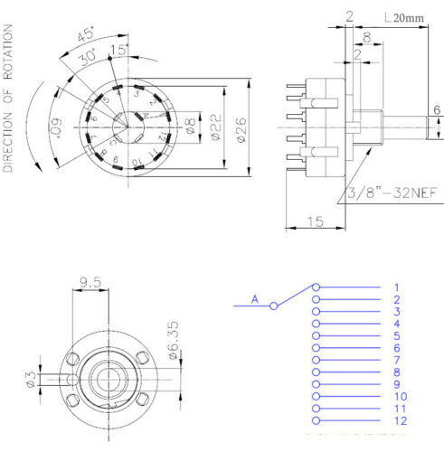 2 Pole 3 Position Rotary Switch Wiring Diagram