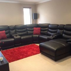 East London Sofa Cinema Blue Leather For Sale 100 Huge Black Recliner Chaise Corner In