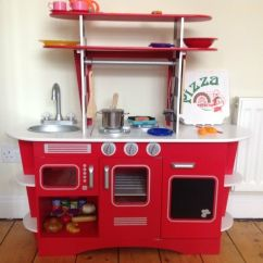 Wooden Kids Kitchen Design Rochester Ny Elc Play Set Excellent Condition In