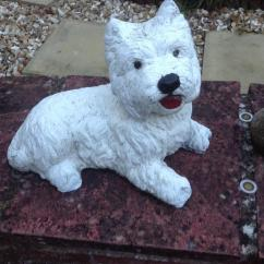 Cast Iron Table And Chairs Gumtree Regalo Portable High Chair Stone Westie Garden Statue | In Yeovil, Somerset