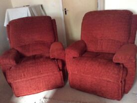 burlesque pink sofa crate and barrel lounge slipcovered stunning chair footstool range in arnold two red armchairs collection only