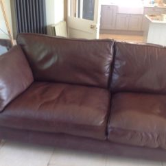 Barletta Sofa Natuzzi Leather Sectional Sleeper Pre Owned Marks And Spencer Large In Brown