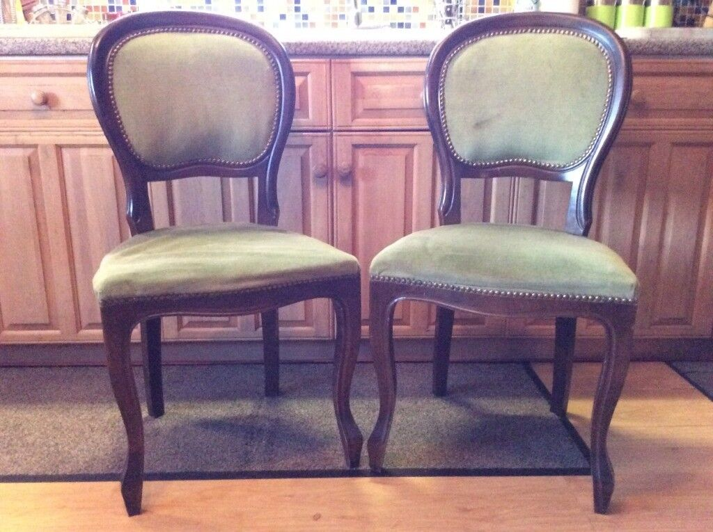 bedroom chair on gumtree rialto black bonded leather a pair off stunning vintage chairs in great royal green