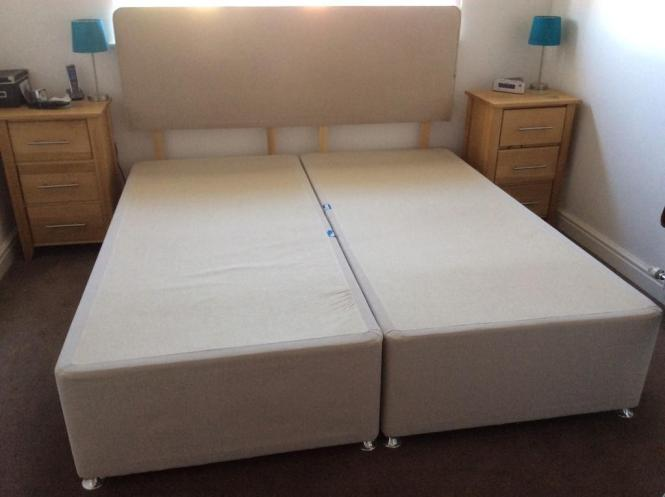 Super King Size Sealy Divan Bed Base With Headboard