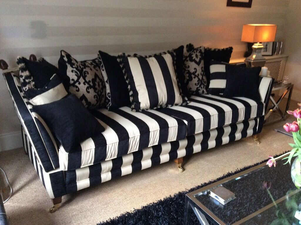 cream leather sofa set uk cheap outdoor sectional duresta trafalgar 4 seater in black and | ...