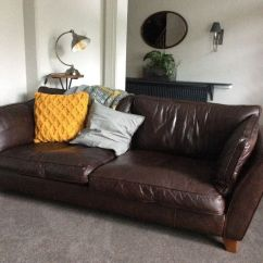 Barletta Sofa Distressed Brown Leather Sectional M S Dark 5yrs Old Very Good Condition