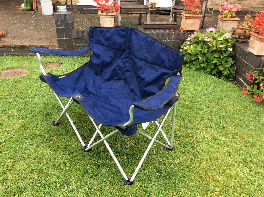 two seater lawn chair antique wooden chairs folding camping in market harborough