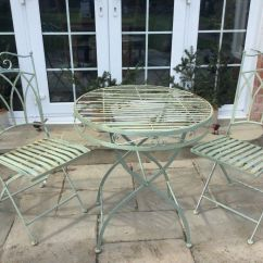 Green Metal Bistro Chairs Office Chair Executive Leather Set In Folkestone Kent Gumtree