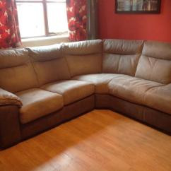 Two Seater Recliner Sofa Gumtree Corner Outdoor Furniture Covers Large Faux Suede Bed | In Pontypridd, Rhondda ...