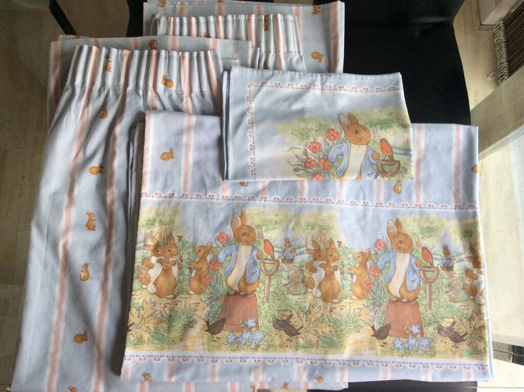 Peter Rabbit Curtains Duvet Cover And Pillowcase In Keyworth