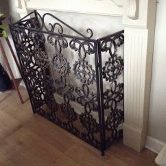 Cast Iron Table And Chairs Gumtree Single Chair Weather Antique Ornate Fireguard With A Beautiful Scroll Pattern | In Sunderland, Tyne ...