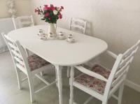 Shabby Chic Table And Chairs Cottage Kitchen Dining Table