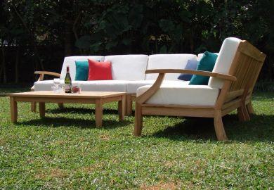 Wood Patio Sofa