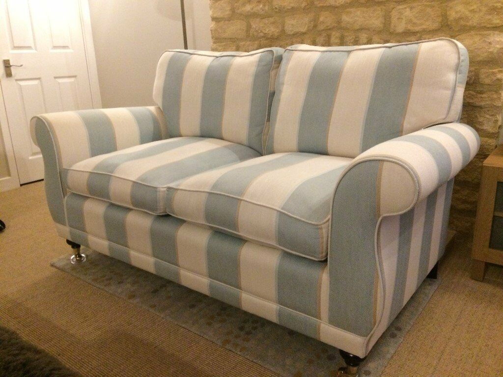 blue recliner chair covers bedroom swing laura ashley 2 seater sofa