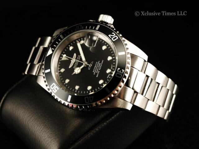 Invicta Pro Diver Men's 40mm Silver Steel Bracelet & Case Automatic Watch 17044   eBay