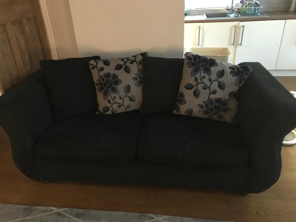 black 3 seater sofa and cuddle chair low cost sleeper sofas in burnage manchester gumtree