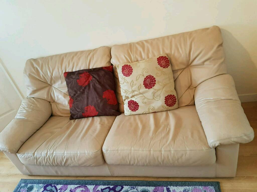 how to clean a cream leather sofa sofas on finance poor credit 3 2 1 very nice and in inverness