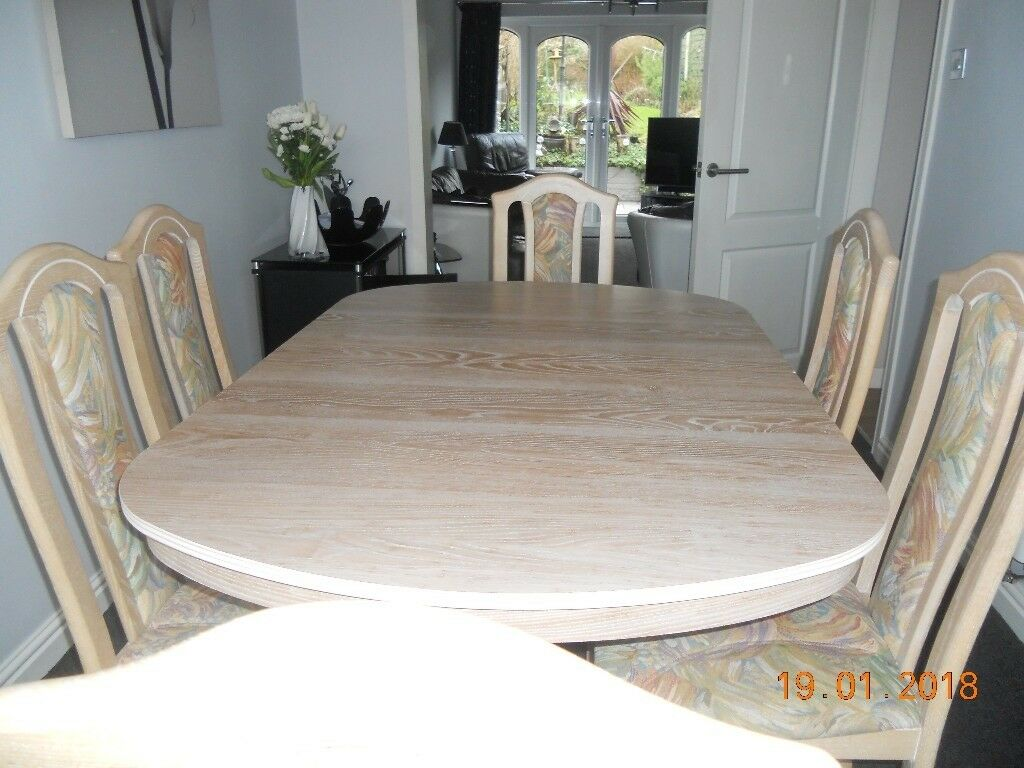 Cousins Limed Oak Extendable Dining Table Amp 6 Chairs In