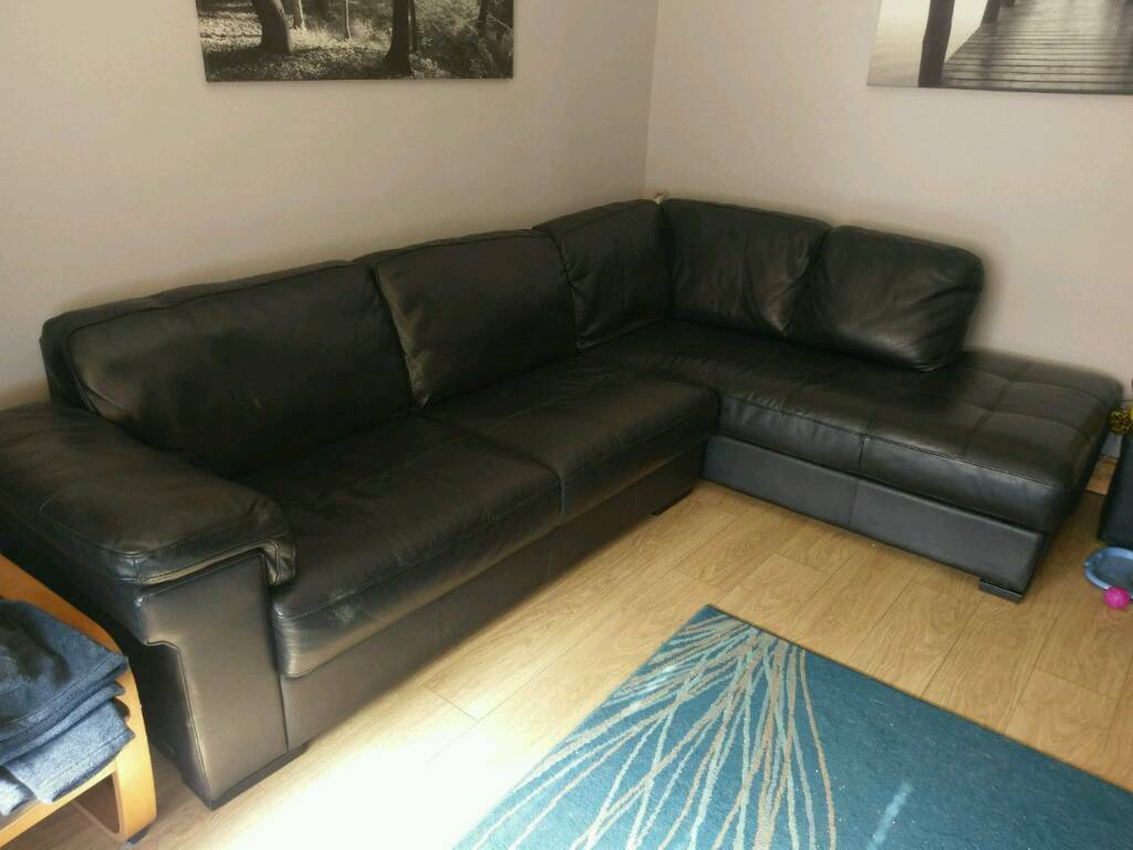 black leather sofas on gumtree mainstay sofa sleeper with memory foam mattress sold vogue corner couch in