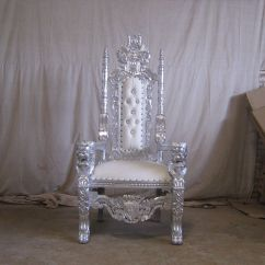 How To Make A Queen Throne Chair Folding Tent Silver Leaf White Lion King Asian