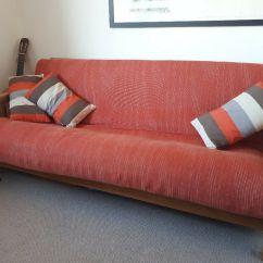 Oak Furniture Sofa Beds Cambridge Company Excellent Orange Futon Solid Oke Double