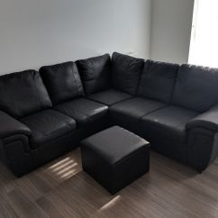 Black Leather Sofas On Gumtree Cheapest Sofa Sets In Melbourne Corner And Storage Footstool