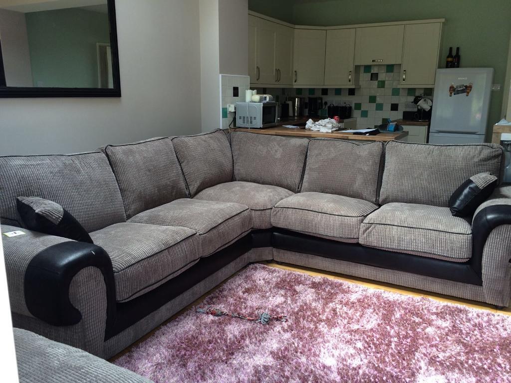 big chunky corner sofas sofa ultrasuede large grey cord review home co