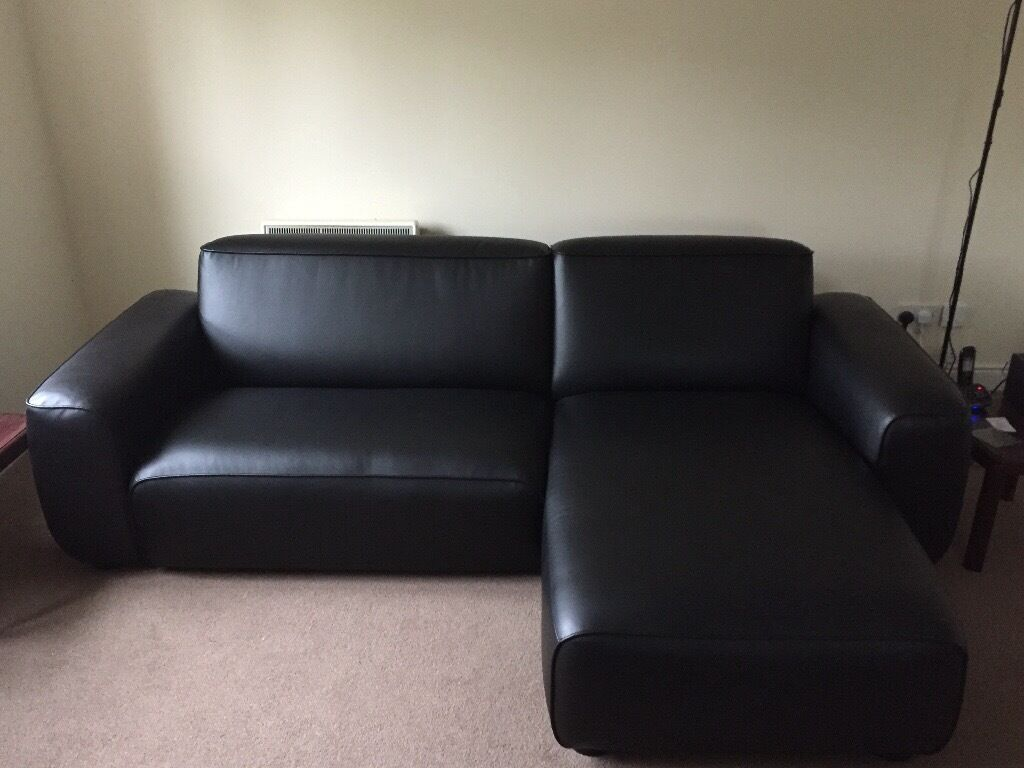 how to clean leather sofas fabric vs ikea 2 seater dagarn chaise lounge kimstad black sofa | in ...