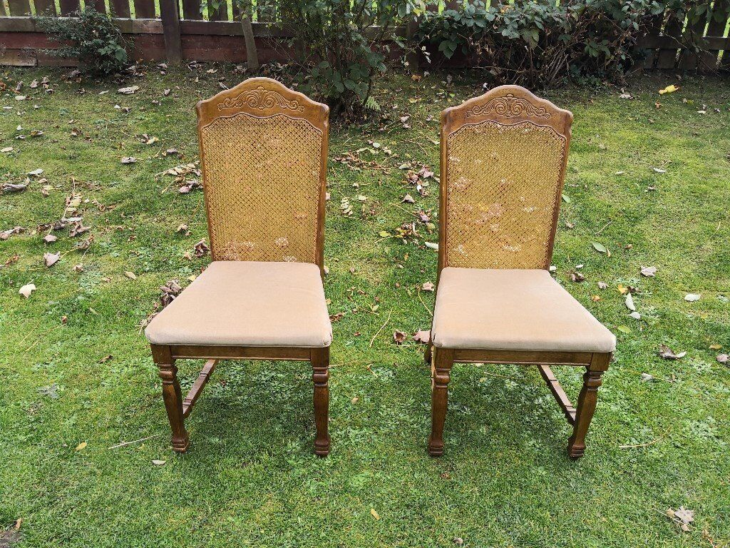 bergere dining chairs hospital for sale two lovely antique vintage 45 in