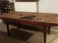 1960's teak coffee table that turns into a dining table ...