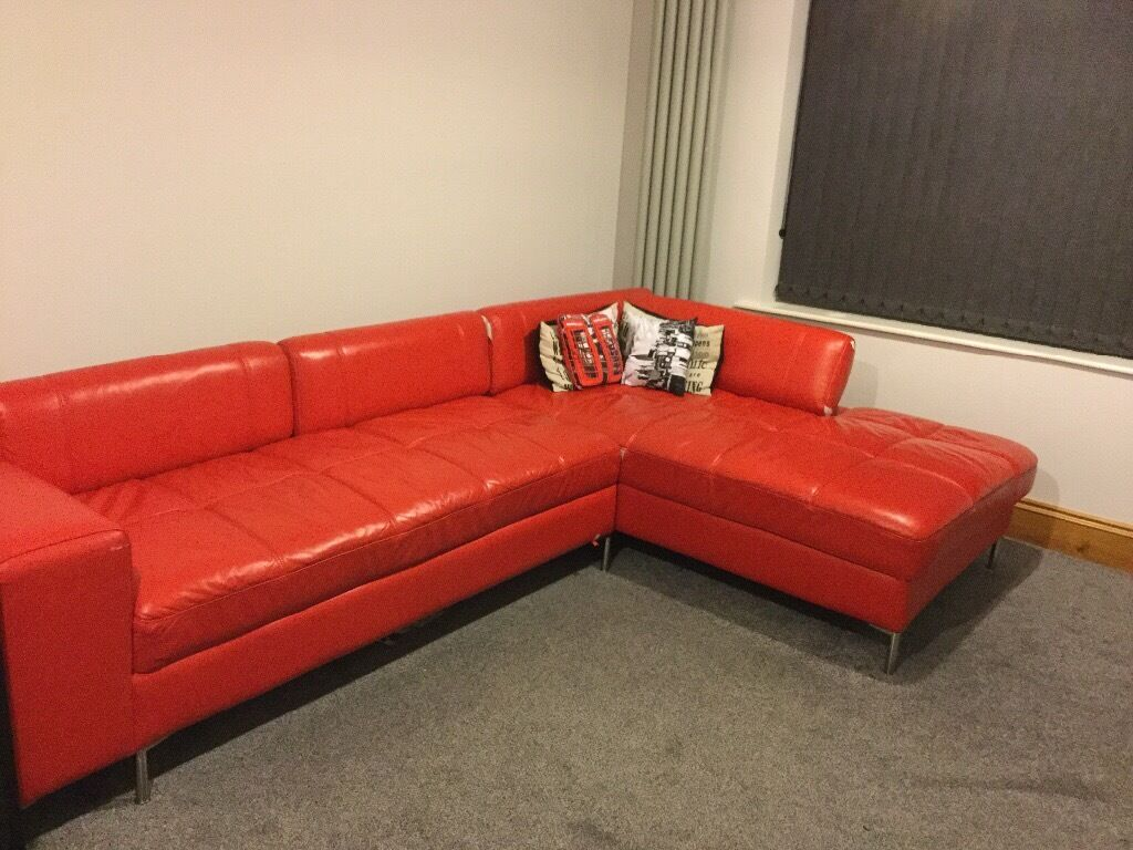 red leather sofas gumtree manchester 2226b contemporary white sectional sofa corner 2900x1800 with chrome legs new