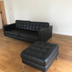3 Seater Sofa Black Leather Dog Covers For Sofas Ikea 43 Stool Landskrona In