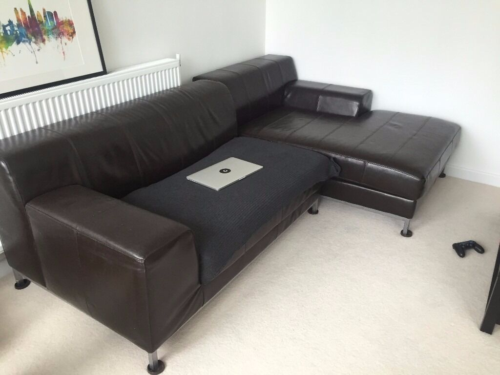 kramfors leather sofa grand ikea brown corner in london gumtree