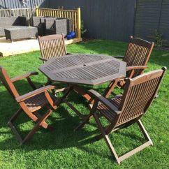 Cast Iron Table And Chairs Gumtree Joybird Desk Chair Hardwood Garden Furniture Set In