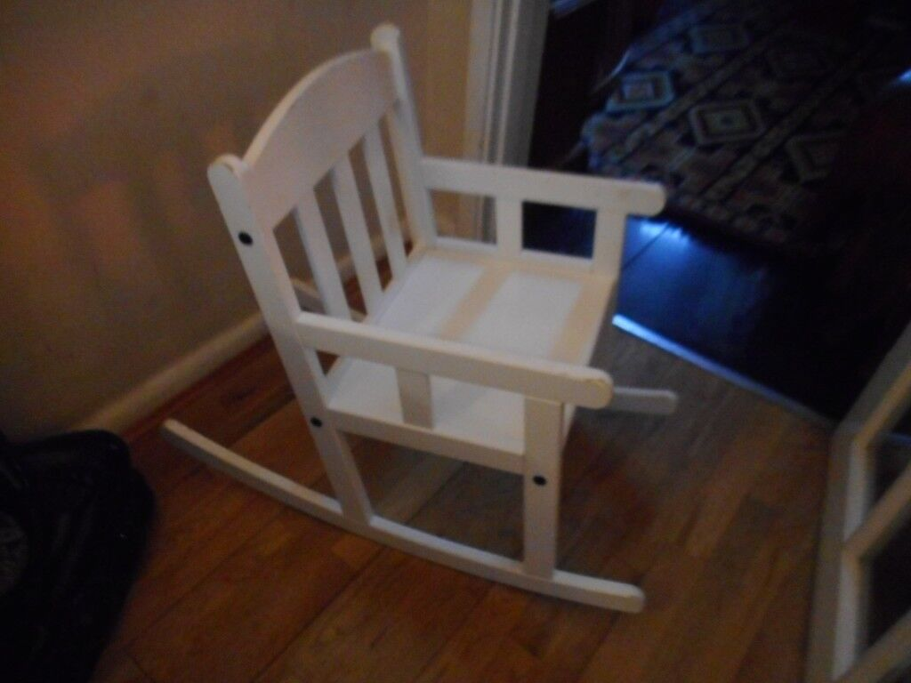 ikea white rocking chair fire pit tables with chairs childs in cambridge cambridgeshire gumtree
