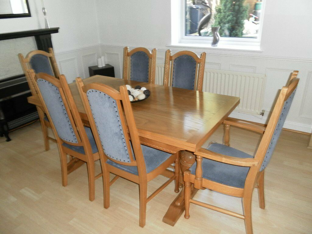 parker knoll dining chairs second hand bed lounge chair room table 6 and sideboard solid
