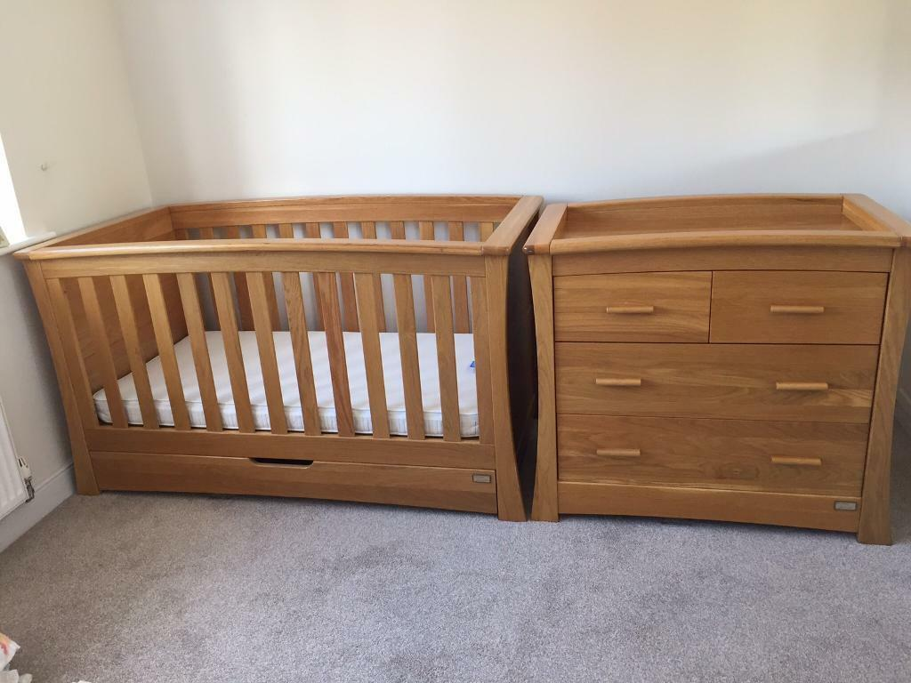 swing chair mamas and papas wheelchair vans of florida solid oak ocean cot bed changing unit