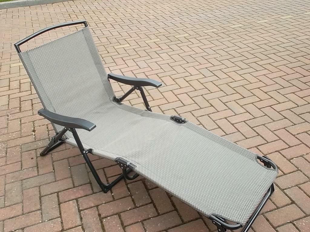 fold up chairs tesco painted french dining folding garden loungers in kirkcaldy fife gumtree