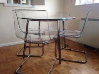 IKEA - SALMI Glass Table and IKEA - TOBIAS Chairs x4   in ...