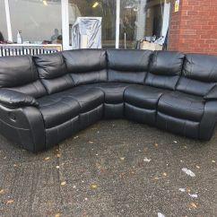 Grey Leather Sofas Harveys Living Room Ideas With Dark Brown Bel Air Black Leatherette Recliner Corner Sofa 5-6 ...