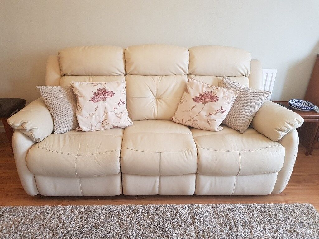4 seater leather sofa prices how to clean stains on fabric new price 3 recliner cream vanilla