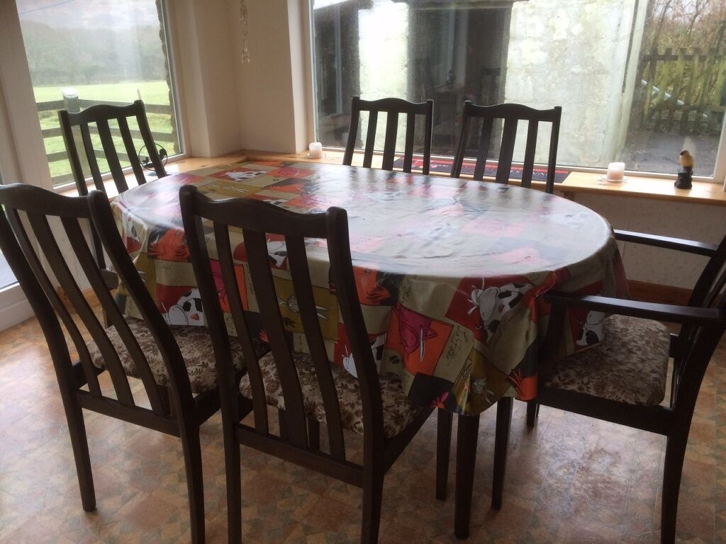 dining room table and chairs gumtree chairul tanjung dark wood upcycle in bodmin