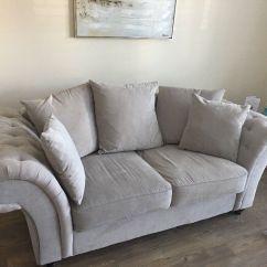 Light Grey Chesterfield Sofa Corner Garden Cover Style In West Sussex Gumtree