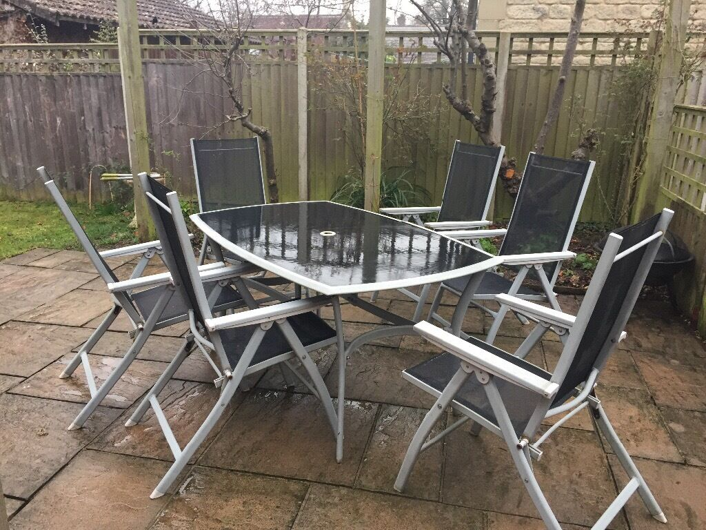 reclining patio chairs and table gamestop gaming chair garden furniture in stroud