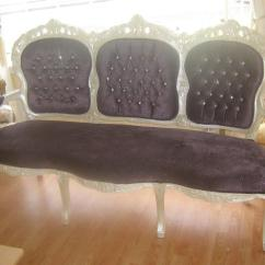 Purple Crushed Velvet Bedroom Chair Craigslist Table And Chairs Shabby Chic Louis Xv Sttyle French