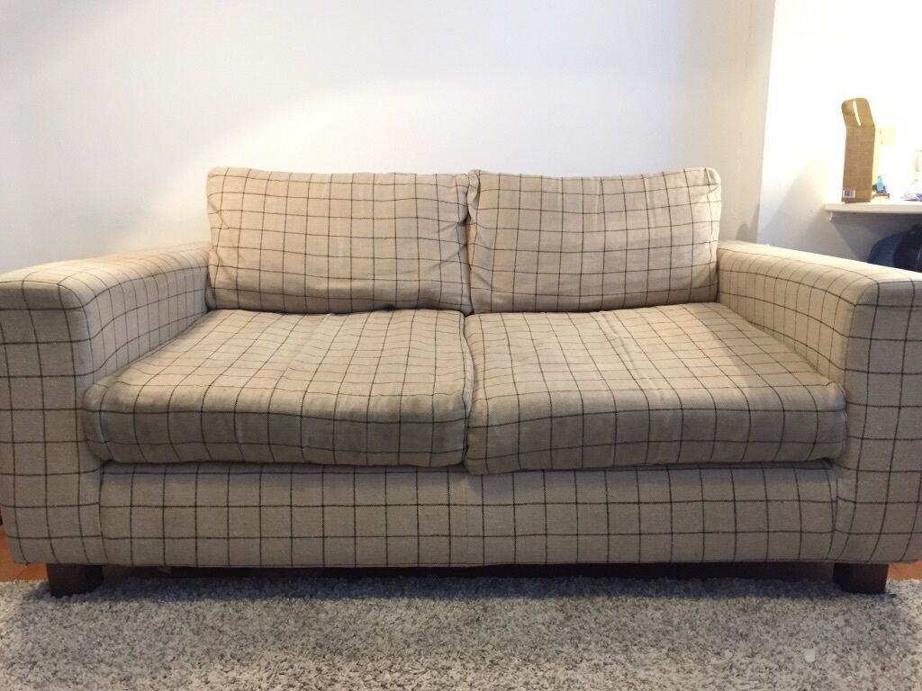 sofa london gumtree brown cover comfy habitat 2 person second hand in finsbury