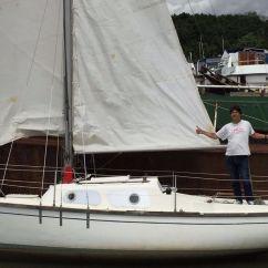 Sofa London Gumtree Blue Denim Sailing Boat 'hurley' 22 Ft Long Keel | In Hammersmith ...