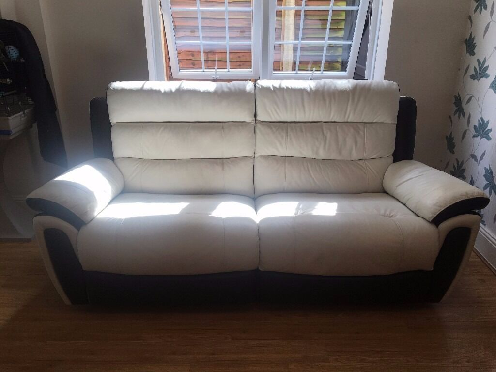 scs leather sofas and chairs sofa lounge couch melbourne power 3 seat in southampton hampshire
