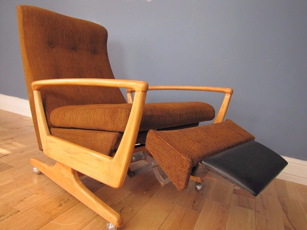 Mid Century Recliner Chair Retro Mid Century Parker Knoll Pk 1020 Reclining Chair